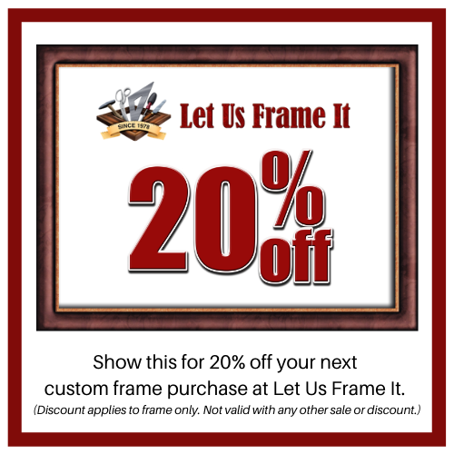 Let Us Frame It 20% off coupon for new customers
