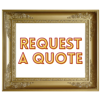Image is of a gold frame including the words